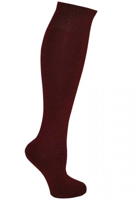 Dámské jednobarevné bambus kolena vysoké ponožky