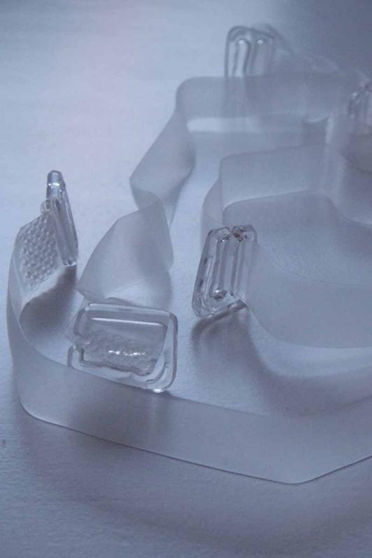 Silikonové Popruhy s plastovou Tip pro Bras