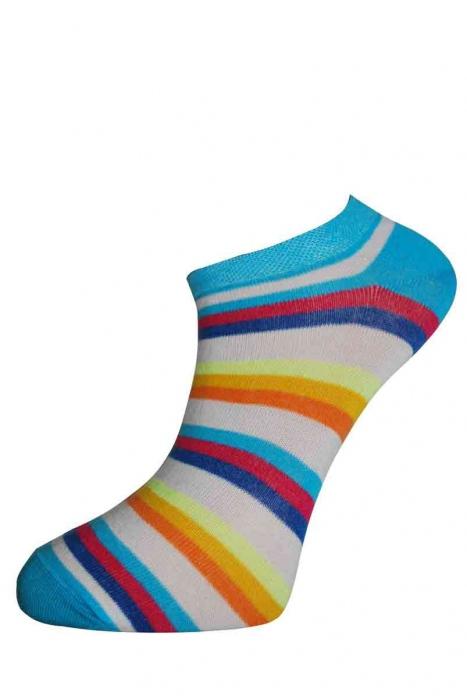 Dámské nízké pruh bavlněné ponožky