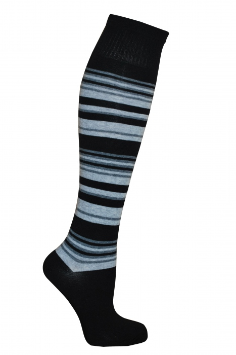 Dámské pruh bavlněné Knee vysoké ponožky