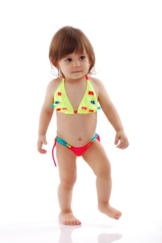 Děti Bikini Plavky měkký trojúhelník dna s vazbami 1114