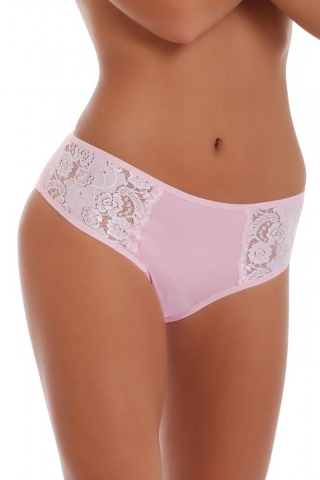 Hluboké Cotton Klasické kalhotky Kalhotky s širokým pásem s krajkou 027