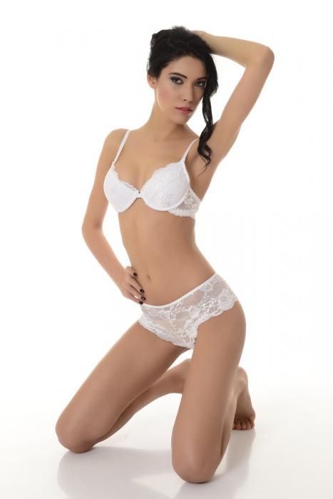 Stylový Ladies Set Lace Bra & Elegantní kalhotky 5612 bílá