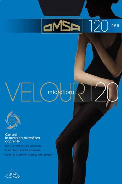 Punčochové kalhoty Matt Velur 120 Den Omsa 198