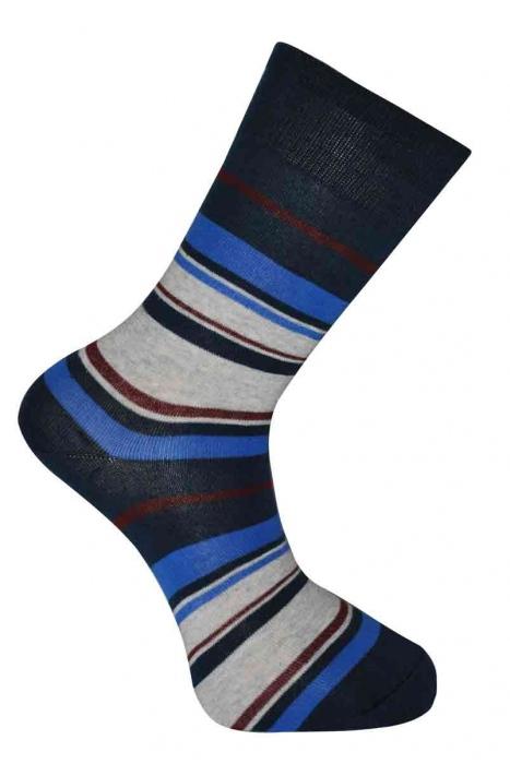 Dámské klasické pruhované bavlněné ponožky