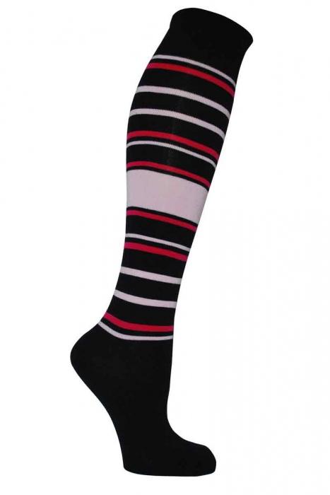 Dámské 3/4 pruhované ponožky bambusové