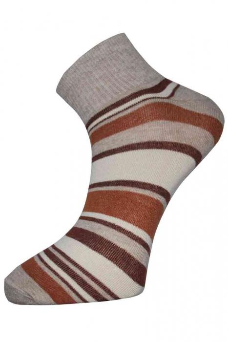 Pruhované dámské bavlněné ponožky trenér