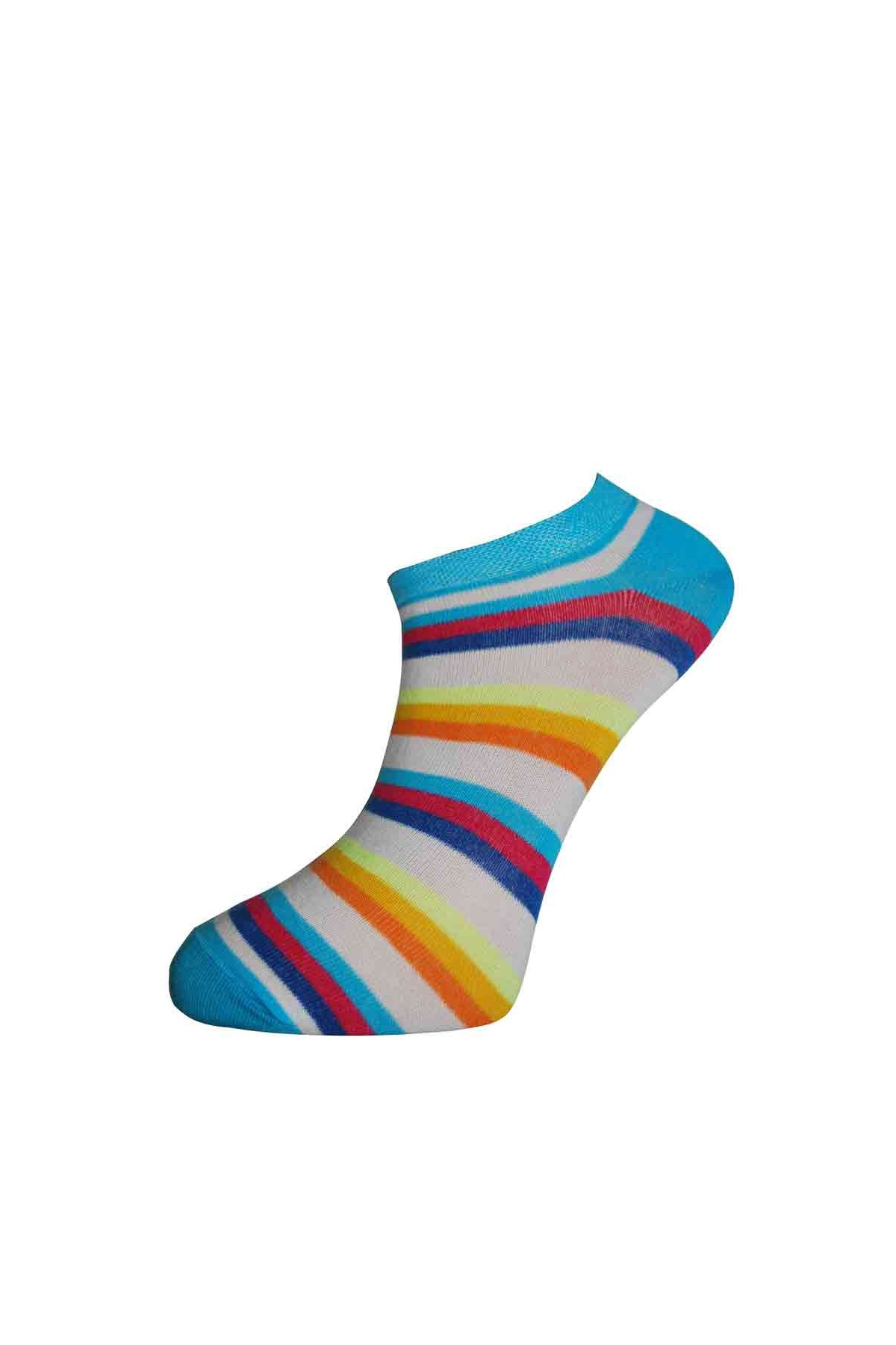 Dámská nízká pruh bavlněné ponožky. Tap to expand 42aada6d9c