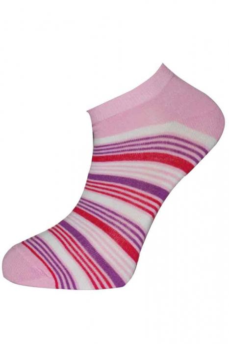 Ženy pruhované ponožky bambusové Sneaker terlik