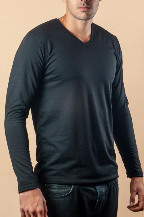 Thermal s dlouhým rukávem T-Shirt Spitz mykaná bavlna 15-135
