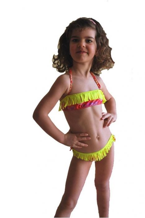 Děti plavat pás s třásněmi a kalhotky s vazbami 1115