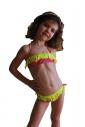 Děti Bikini Plavky bando Makramé dna s vazbami 1115
