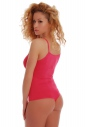 Bavlna Womens kombinézu Thin Strap Vest Tanga Style 1350