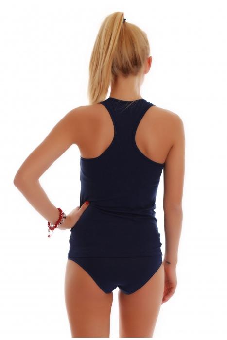 Dámské Set Tank Top Otevřená Back & Bikini kalhotky 1308-1027
